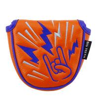 Magnetic Golf MALLET Head Cover Headcover For Odyssey 2 ball Orange Center SHAFT