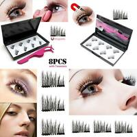 FT- 8Pcs Magnetic False Eyelashes Tweezers Extension Tool Lashes Applicator Wide