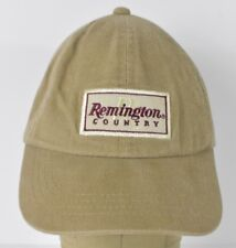 Beige Remington Country Embroidered Baseball Hat Cap Adjustable Leather Strap