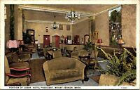 Postcard Portion of Lobby, Hotel President in Mount Vernon, Washington~132603
