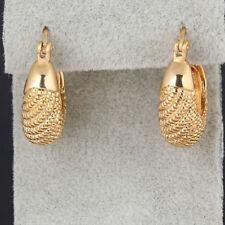 Women Fashion Earrings 18k Yellow Gold Filled Pretty Hoop Fish Charms Jewelry