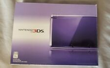 Nintendo 3DS System - Midnight Purple - With Box - Game included
