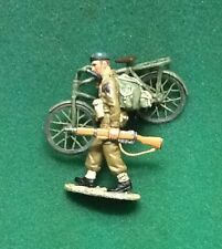 King & Country Churchill's Commandos, British Soldier walking, bicycle, rifle