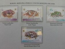"""""""COCOS ISLANDS"""" WWF  # CRABS #  BLOCK of 4  GROTH AG Nr.01264210  ~~ MINT"""