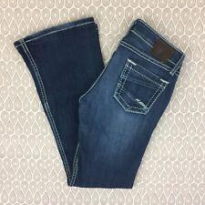 BKE Buckle Starlite Women's Ultra Low Rise Flare Denim Jeans Size 26R B58
