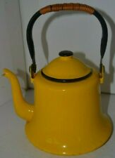 Enamelware Yellow Tea Coffee Pot