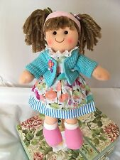 Personalised Rag Doll Sasha Christening New Baby Flower Girl Gift 28 cm Ragdoll