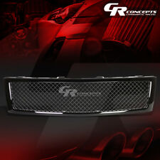 BLACK SQUARE MESH FRONT UPPER BUMPER GRILLE/GRILL FOR 07-13 CHEVY SILVERADO 1500