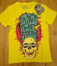 Paint the Stars/ Men's T-Shirt/ Yellow/ Skull-Blue Hair/ Size S - 241