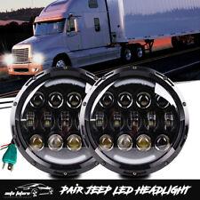 "For Freightliner Century Light 7"" Inch LED Headlights Hi/Lo For Pre 2005 Model"