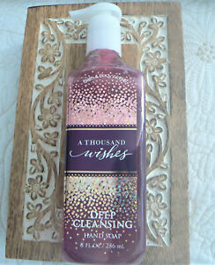 RARE Bath & Body Works A THOUSAND WISHES Deep Cleansing Hand Soap New Sealed