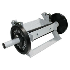 Ader Tibia Dorsi Calf Flexion Machine can use 25lb Olympic plates or smaller