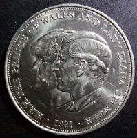 1981 Royal Wedding of Prince of Wales and Diana Commemorative Crown Coin