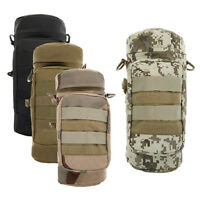 Militray Tactical Molle Zipper Water Bottle Hydration Pouch Bag Carrier F Hiking