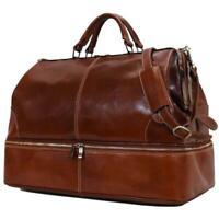 Floto Italian leather Positano Grande Luggage Travel Duffle Bag Carryon Weekend