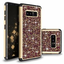 For Samsung Galaxy Note 8 Hybrid Bling Glitter Shockproof Hard Protective Case