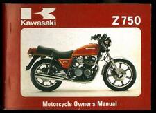 Owner's Manual KAWASAKI Z 750 E1 -1979 / 81 Owners Manuel d'entretien en Anglais