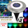1-8pc 20LED Solar Lights Under Ground Buried Garden Lawn Path Outdoor Waterproof