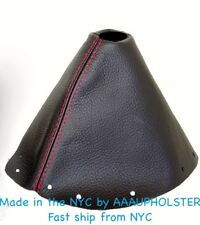FITS NISSAN 300ZX 1989-2000 BLACK SHIFT BOOT MANUAL STICK  SHIFTER Red Stitches