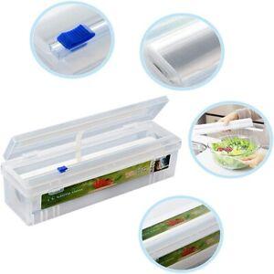 Plastic Food Wrap Dispenser with Slide Cutter Adjustable Cling Film Cutter KEV