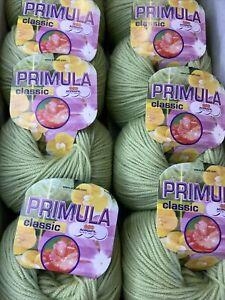 Adriafil Classic Primula Merino Yarn 10 X 50g Bslls Shade 061 Lime Green
