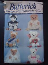 Butterick 5601 Greeting Bear w/ 6 Costumes Angel, Cupid, Graduate, Bride + 2