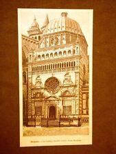 Incisione del 1891 Bergamo, Cappella Colleoni a Santa Maria Maggiore - Lombardia