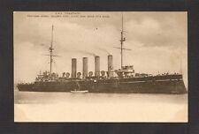 POSTCARD:  HMS SPARTIATE (HMS FISGARD) - BRITISH ROYAL NAVY ARMOURED CRUISER