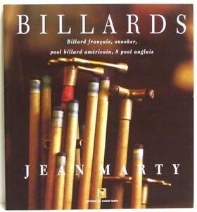 LIVRE - BILLARDS FRANCAIS, SNOOKER, POOL US & 8 POOL / MARTY, GARDE-TEMPS, NEUF