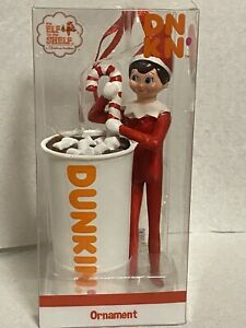 Limited Edition 2019 Elf on the Shelf Dunkin Donuts Ornament