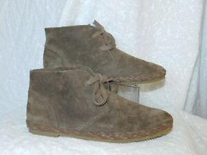NEW! AETREX TAUPE LEATHER ANKLE BOOTS SZ 7 M