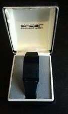 ULTRA RARE VINTAGE SINCLAIR BLACK ELECTRONIC WATCH (VGC BOXED)