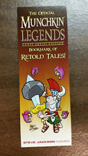 Munchkin Legends GEA Retold Tales Promo Bookmark Steve Jackson Games Mike Luckas