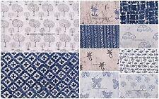 100 Yard WHOLESALE LOT Cotton Fabric Indian Handmade Jaipur Block Hand Printed