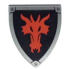 NEW LEGO - Shield - Triangular Dragon on Black x 1 - 70403 70400