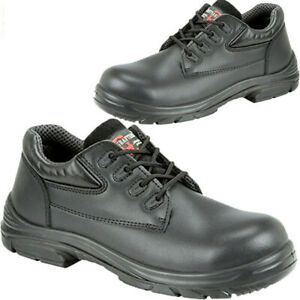 Mens Grafters Leather Safety Shoes Super Wide EEEE Fit Steel Toe Cap Work Boots