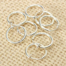 8pcs HOT Punk On Fake Nose Lip Hoop Ear Clip Ring Earrings Silver Body Piercing