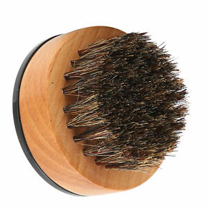 Beard Styling Brush Soft Bristles Wooden Handle Mustache Care Cleaning Brush