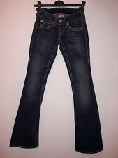 TRUE RELIGION size 24 (XS) JOEY Twisted Seam dark. 70s style flared bell bottom