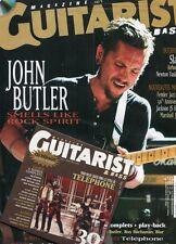 Guitarist Magazine #232 -John BUTLER- Slash, Airbourne, N. Faulkner+ CD exclusif