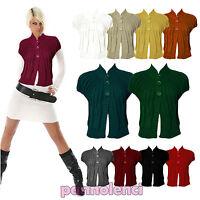 Coprispalle donna cappa collo bolero maglia lana tricot bottoni AS-333