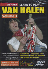 Learn to Play Van Halen Volume 3 Lick Library Guitar Tuition 2 DVD Set