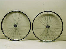 PAIR EARLY MOUNTAIN BIKE WHEELS STEEL  CHROME 26 x 1.75 MTB BIKE WHEELS NOS