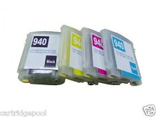 4 Refillable Pigment ink cartridge with chip HP 940 XL 8500a Plus 8500A Premium