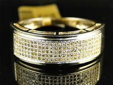 10k Yellow Gold Mens Ladies Canary Diamond 7.5 mm Wedding band Ring 1/2 Ct