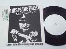 "ANTISCHISM This Is the Enemy - 7"" EP 1990 - Hardcord Punk - BLANK labels - RARE"