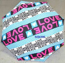 Moschino Cheap & Chic LOVE PEACE AUTO Umbrella Rain Sun Women Lady Cute Gift NWT