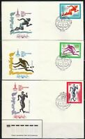 Soviet Russia 1980 set of 5 FDC covers Summer Olympics Moscow Mi 4921-4925