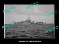 OLD LARGE HISTORIC AUSTRALIAN NAVY PHOTO OF THE HMAS ARUNTA SHIP c1946