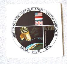 Official NASA IRAS Program Sticker. Original Stickers for 1983 Satellite Launch